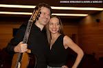 12: Antes del concierto: Andrea Vettoretti y Alice Guidolin.