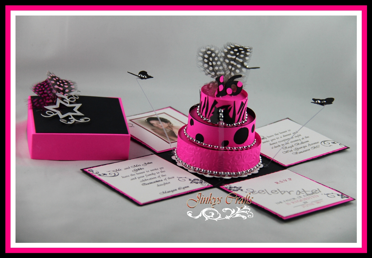 pink and black decorations