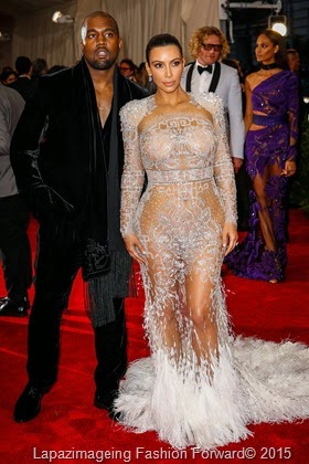 Kanye West and Kim K-West in Roberto Cavalli
