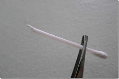 cotton swab to clean headphone jack