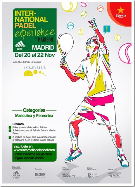 Adidas International Open en Madrid del 20 al 22 de Noviembre 2015: ya abiertas las inscripciones.