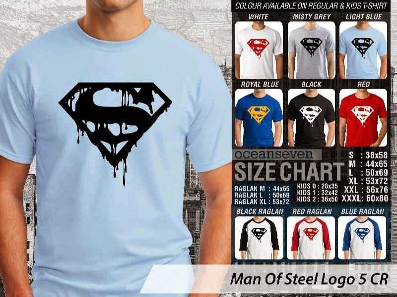 Kaos Superman Hitam Man Of Steel 44 Movie Series distro ocean seven