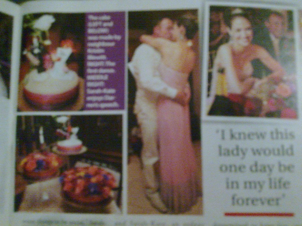 The wedding theme was royal