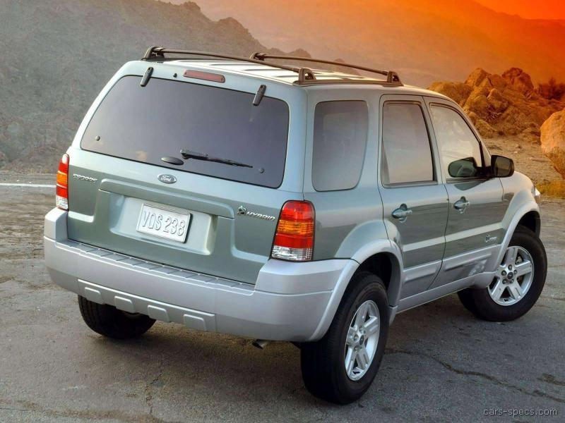 2005 ford escape suv specifications pictures prices. Black Bedroom Furniture Sets. Home Design Ideas