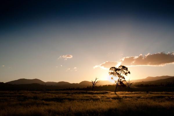 point hut sunset