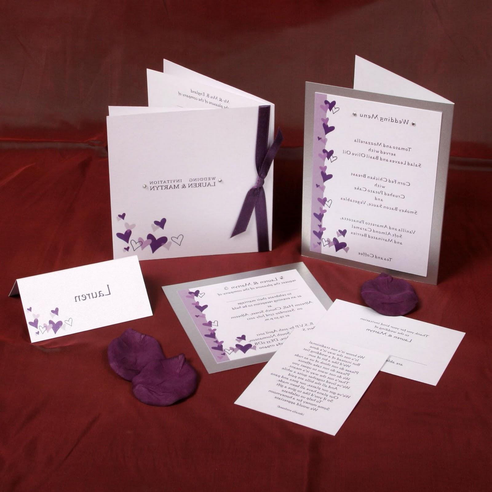 Wedding Stationery range.