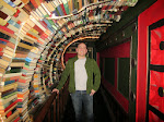 Inside the tunnel of books
