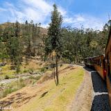 A sinuosa ferrovia para o Nariz del Diablo - Alausí, Equador
