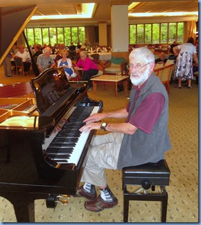 Errol Storey played the grand piano for us in Happy Hour.