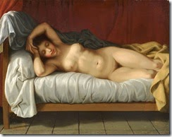 Reclining Nude by Christoffer Wilhelm Eckersberg