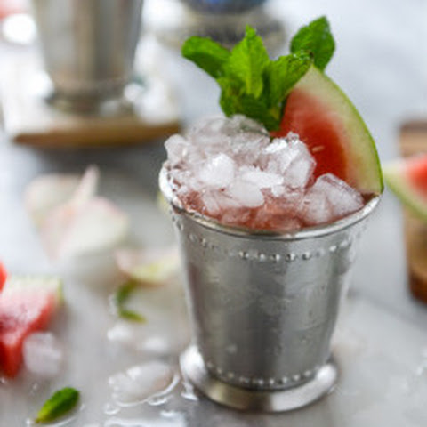 Fresh Watermelon Mint Juleps