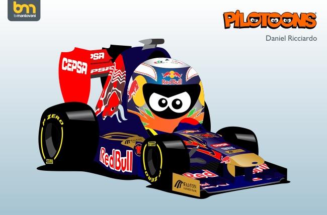Даниэль Риккардо Toro Rosso STR7 pilotoons 2012