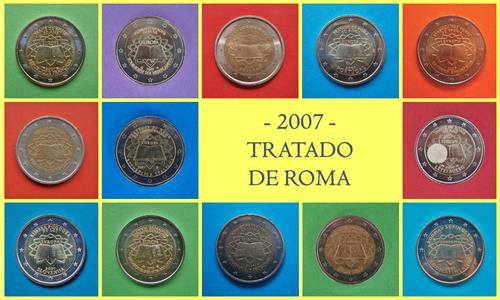 2007 monedas Tratado Roma emisión conjunta