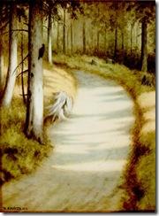 Theodor_Kittelsen_-_Hakkespett,_1912_(Woodpecker)