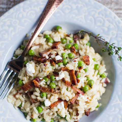 Spring Pea & Goat Cheese Risotto