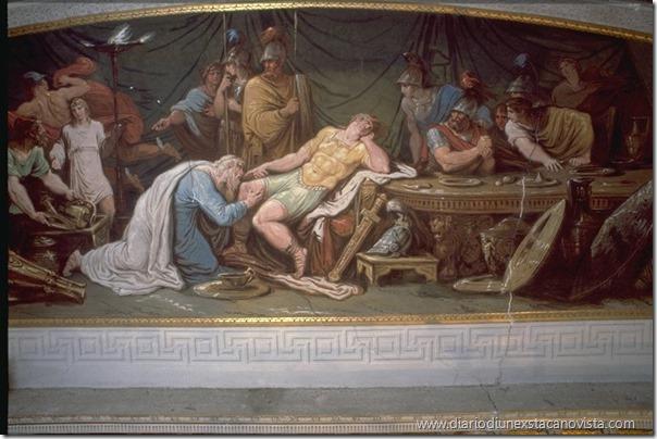 Priamo chiede la restituzione del corpo di Ettore, Palazzo Milzetti, Francesco e Gian Battista Ballanti Graziani