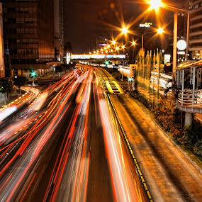 Rush Hour II by Vincentius Dedy Angsana - City,  Street & Park  Street Scenes ( traffic, street, night )