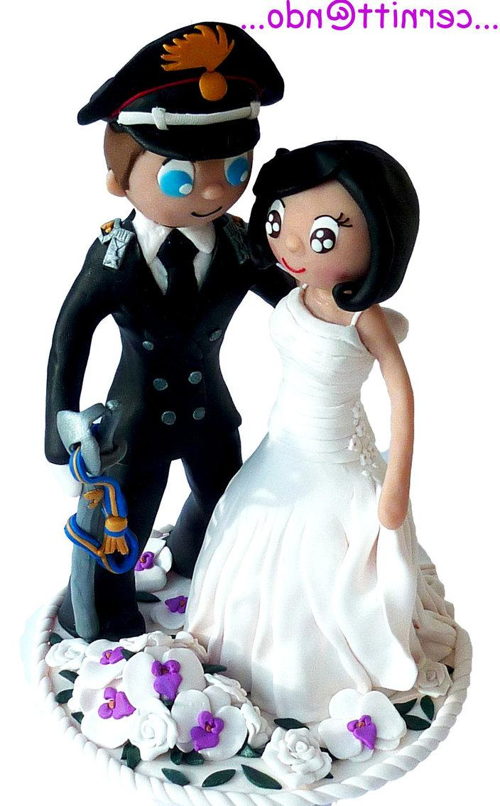 Fimo Wedding Cake Topper by
