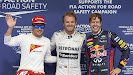 Top 3 qualifiers: 1. Rosberg 2. Vettel 3. Alonso