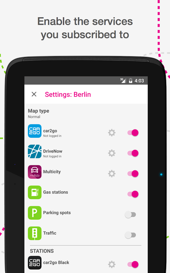 urbi - carsharing aggregator Screenshot 6