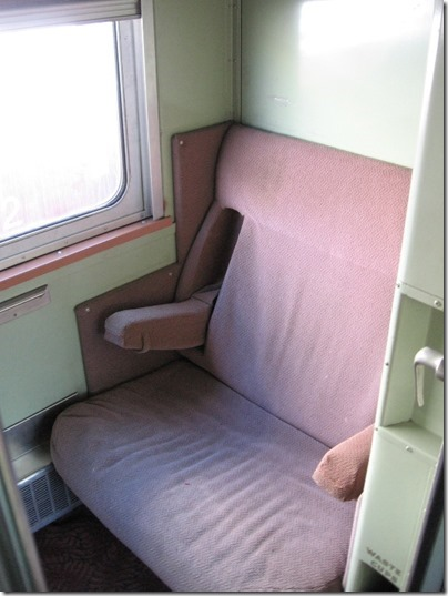IMG_2825 Roomette Interior of Spokane, Portland & Seattle Sleeper-Lounge #600 Mount Hood at Union Station in Portland, Oregon on May 8, 2010