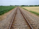 Spoorweg-overgang even buiten Beekbergen.