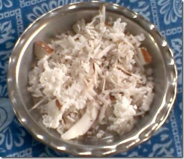 coconut-gratings-for-lemon-gojju