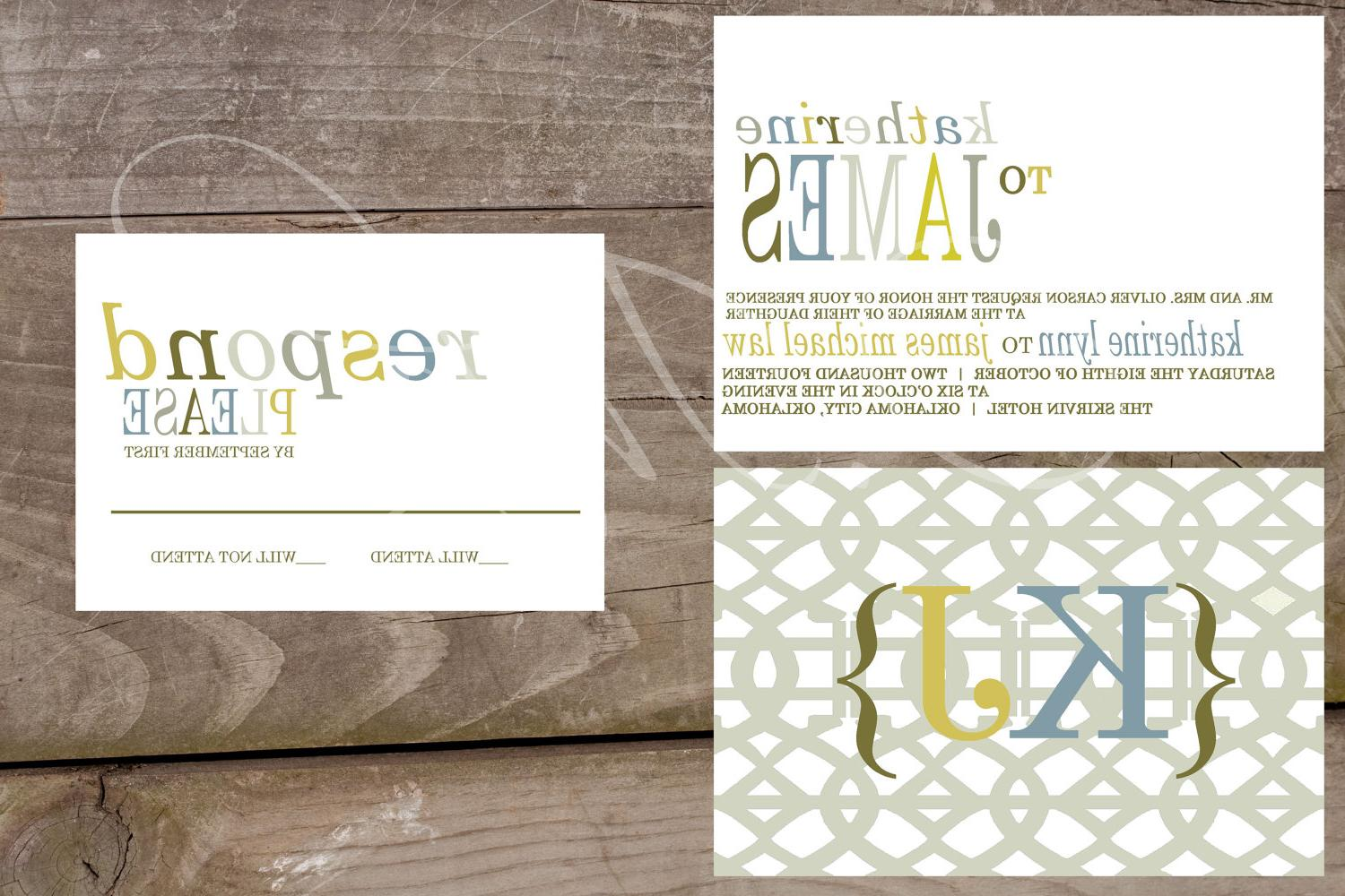 Custom Wedding Suite Invitations & Response Card - Luxury Shimmer Cardstock-