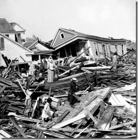 Seeking valuables in the wreckage, Galveston, Texas