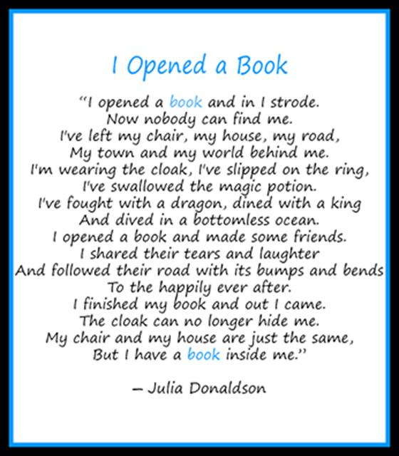 I opened a book