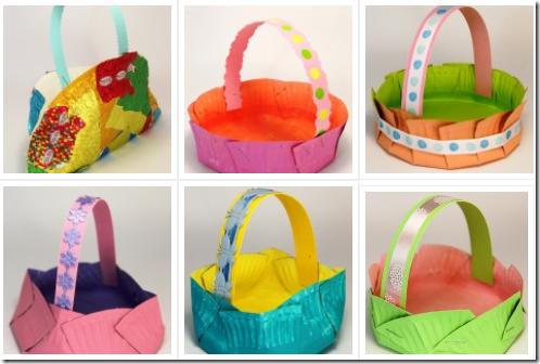 i  Canasta huevos de Pascua y huevos pintados