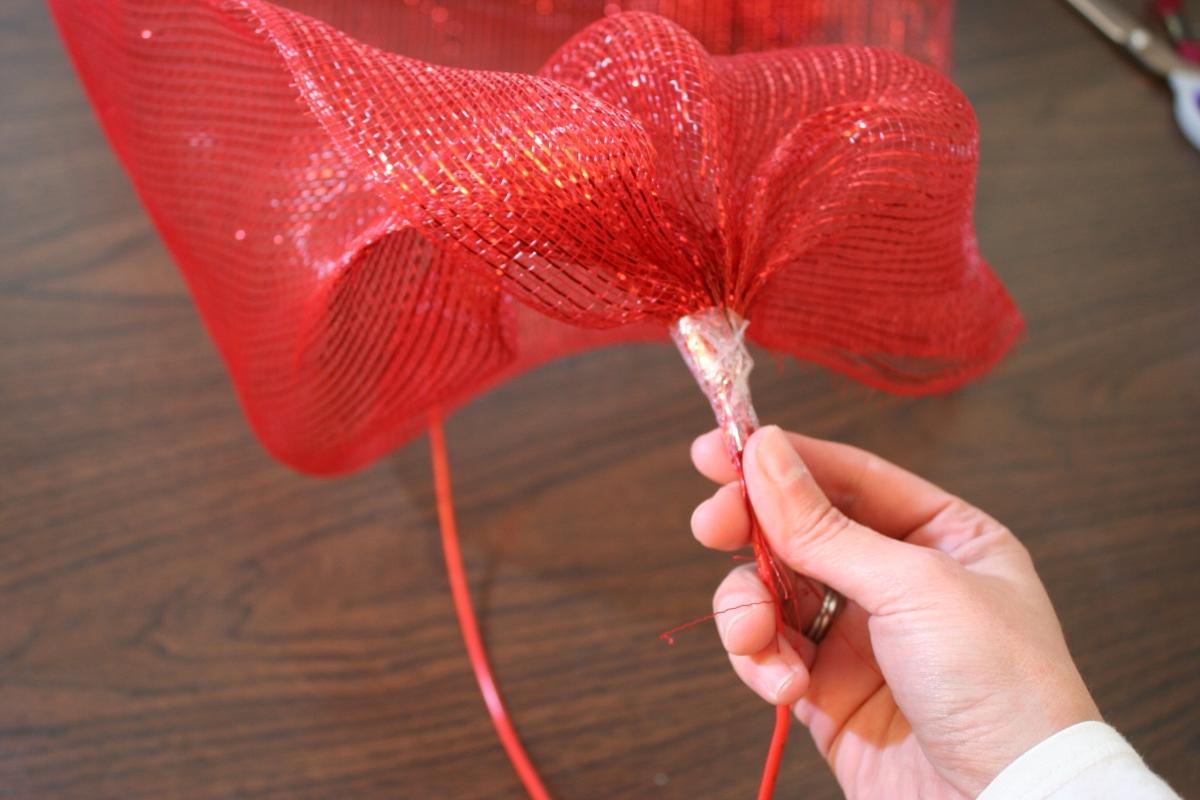 unique mesh ribbon Christmas
