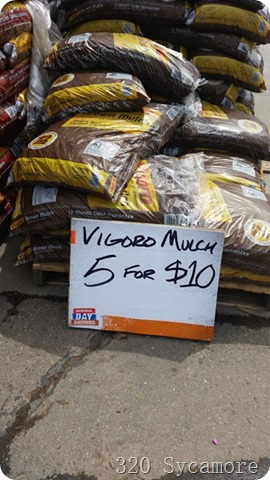 home depot mulch