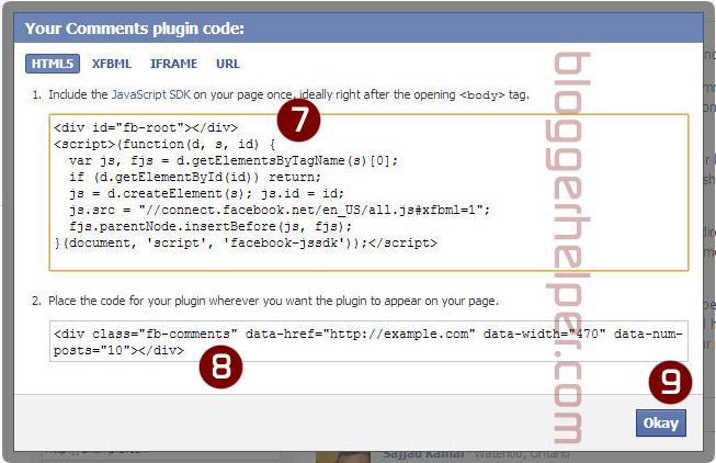 memasukkan komentar FB ke dalam blogspot, komentar facebook dalam blogspot