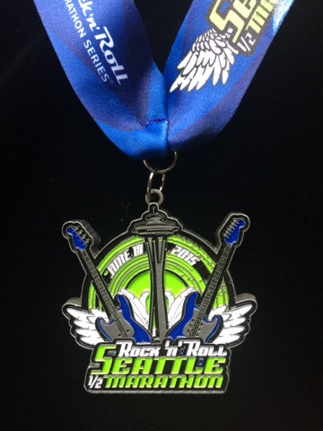 Rock n Roll Seattle Half Marathon medal