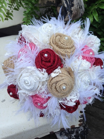 rustic burlap wedding flowers