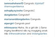 Dingdong Dantes congratulates JC Intal and Bianca Gonzalez