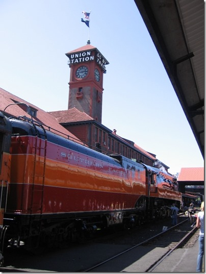 IMG_6077 Southern Pacific Daylight GS-4 4-8-4 #4449 at Union Station in Portland, Oregon on May 9, 2009