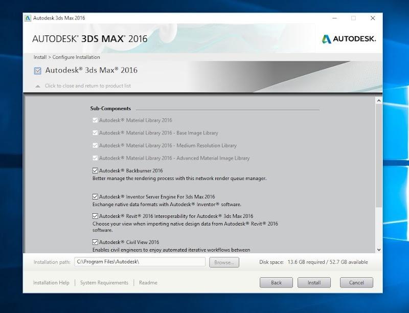 InstallingAutodesk3ds2016