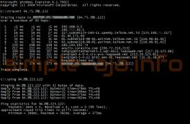 Hasil test traceroute dan ping sebelum menggunakan vpn