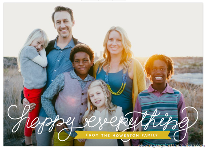minted holiday photo cards howerton family 2014