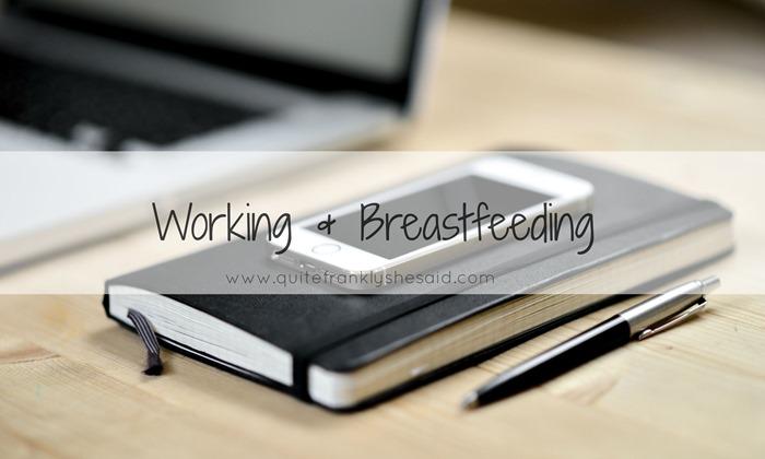 working breastfeeding