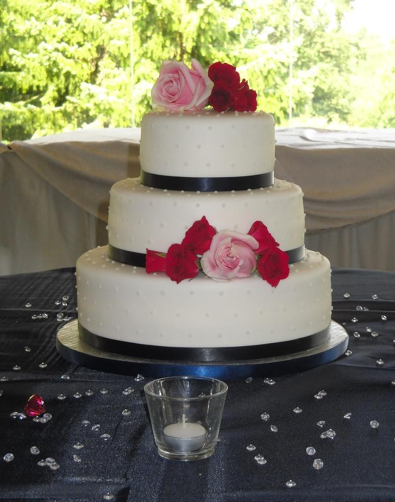 3 Tiered Wedding Cake with