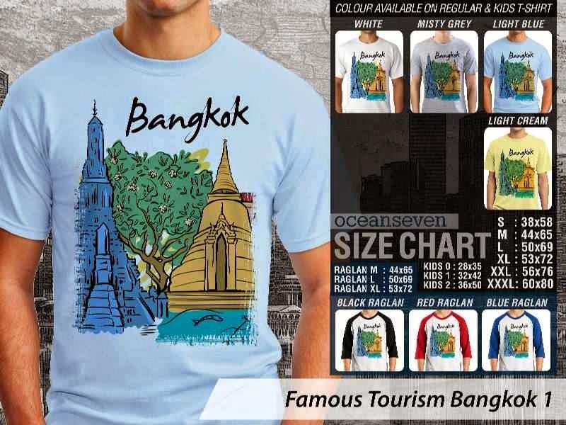 Kaos Wisata Bangkok 1 Thailand distro ocean seven
