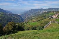 Richtung Eisacktal und Sarntal. Bozen im Tal.