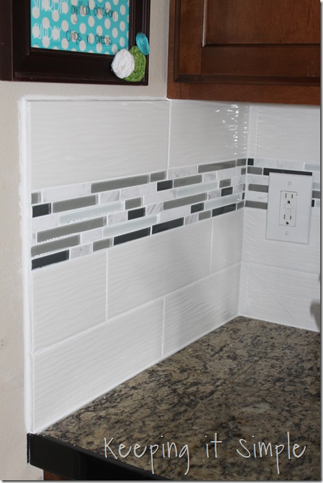 How Much To Install Backsplash how to install a marble subway tile backsplash just a girl and her blog How To Install A Kitchen Backsplash With Wavecrest