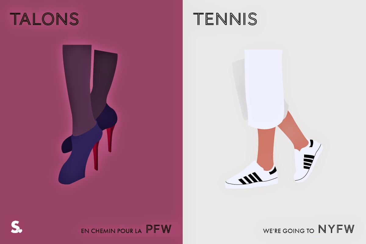 Image of Image of Paris VS New York Fashion Week Infographic 2