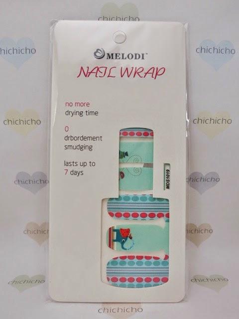 Birds and Elephant Nail Wrap