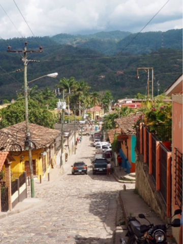 Cobbled street of Copan, Honduras