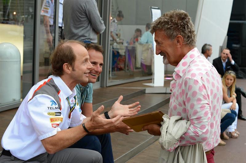 Эдди Джордан и сотрудник Sauber на Гран-при Монако 2014